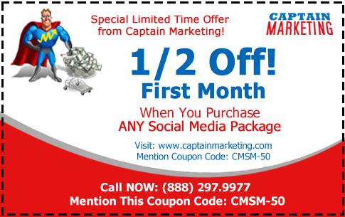 50% off Social Media Coupon
