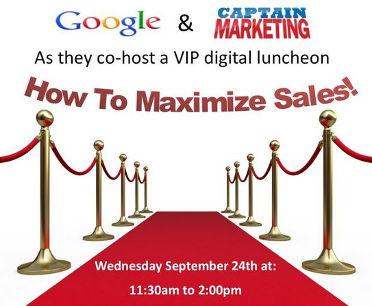 Google and Captain Marketing Event